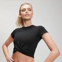 Image of MP Women's Power Short Sleeve Crop Top - Black