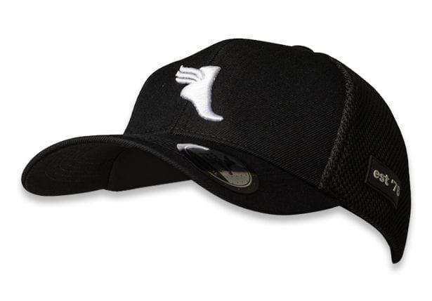 The Athletes Foot Peak Trucker Cap Black White