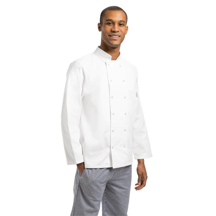 Image of Whites Vegas Chefs Jacket Long Sleeve White L