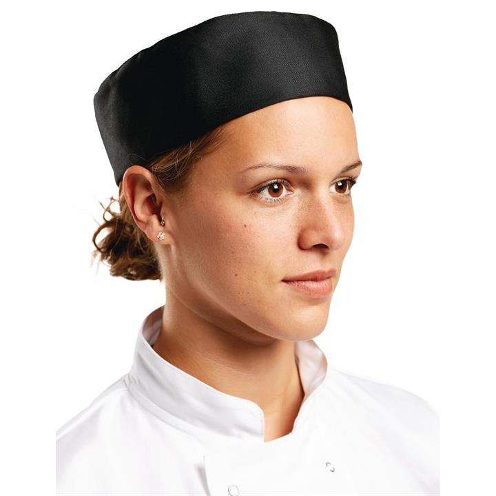Image of Whites Chefs Skull Cap Black L