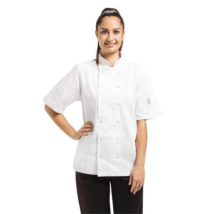 Image of Whites Vegas White Short Sleeve Chefs Jacket S