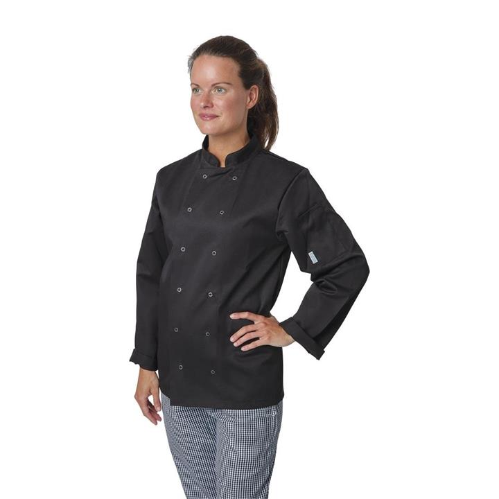 Image of Whites Vegas Chefs Jacket Long Sleeve Black L