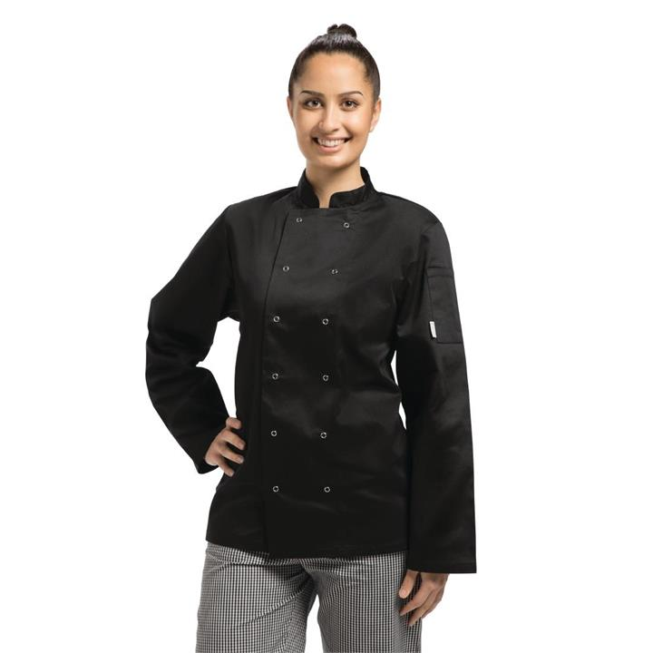Image of Whites Vegas Chefs Jacket Long Sleeve Black S