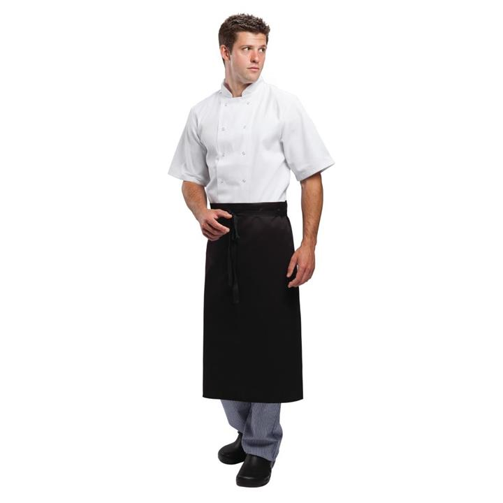 Image of Whites Regular Waist Apron Black Size: R