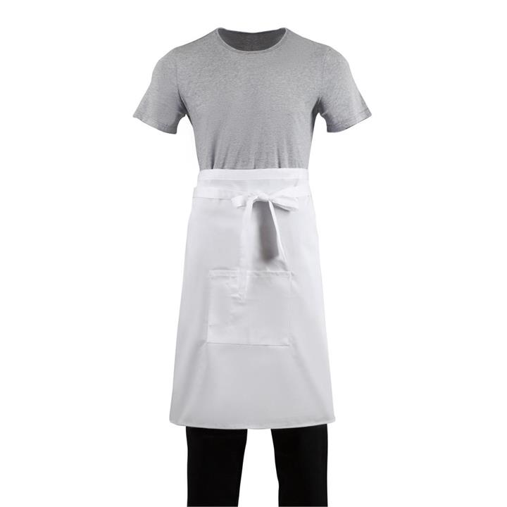 Image of Whites Regular Bistro Apron White Size: R
