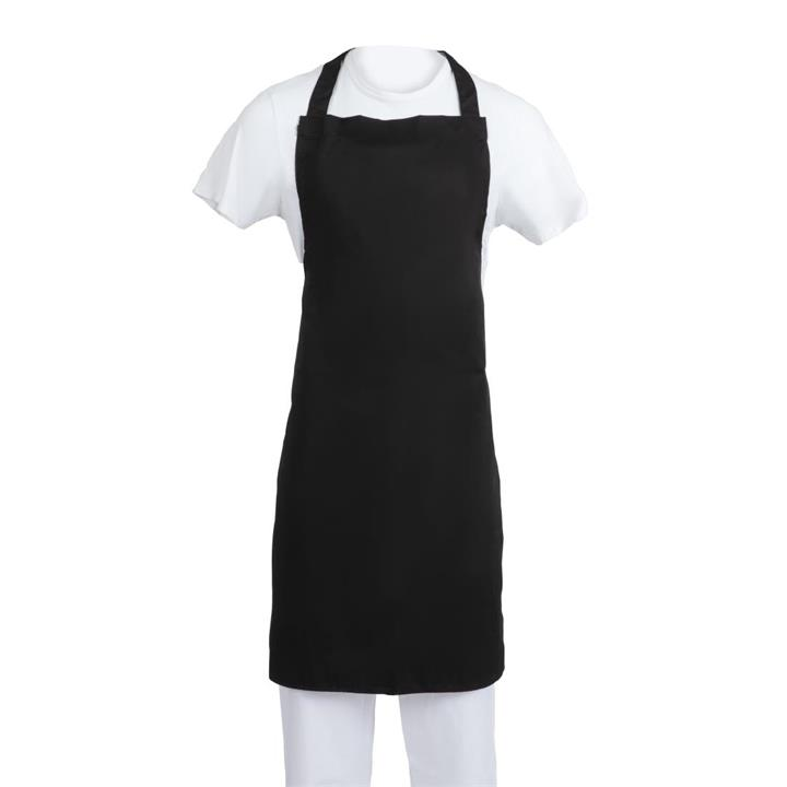 Image of Whites Polycotton Bib Apron Black