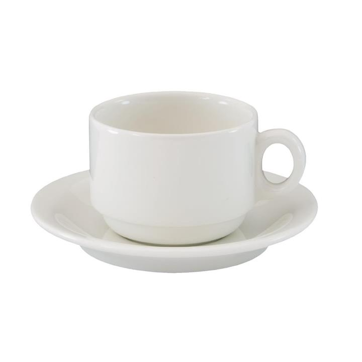 Image of Pack of: 24 Australian Fine China Flinders Tea Cups 220ml