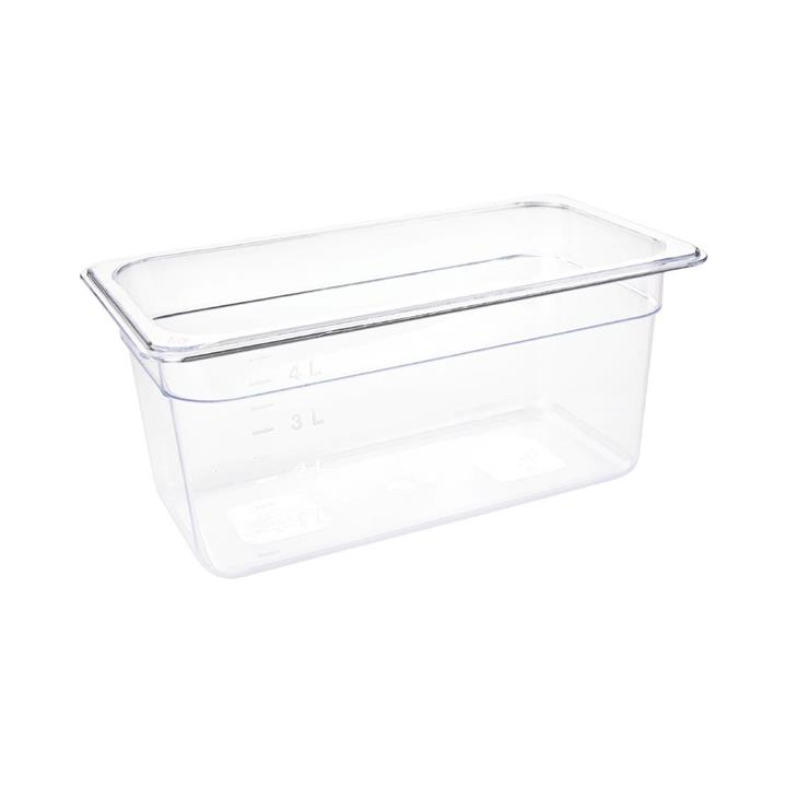Image of Vogue Polycarbonate 1/3 Gastronorm Container 150mm Clear