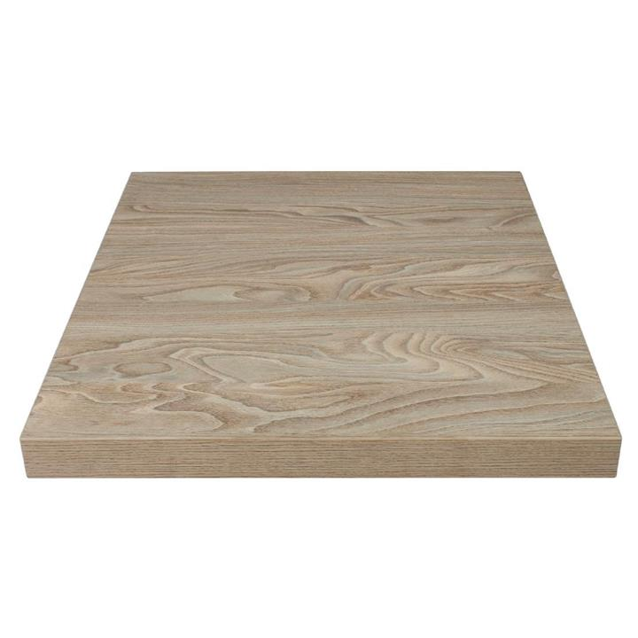Image of Bolero Pre-drilled Square Table Top Antique Natural 600mm