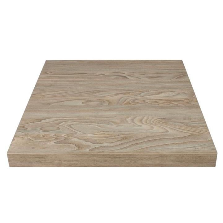 Image of Bolero Pre-drilled Square Table Top Antique Natural 700mm