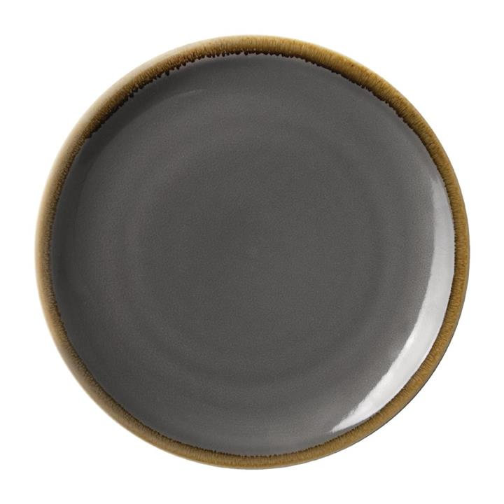 Image of Pack of: 4 Olympia Kiln Round Coupe Plate Smoke 280mm