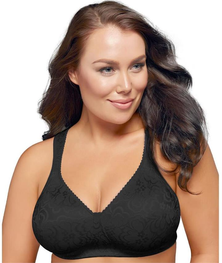 Playtex 18 Hour Ultimate Lift & Support Wirefree Bra - Black 14DD Y1055H Afterpay Available