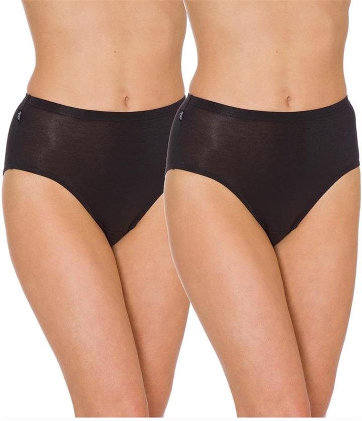 Sloggi Hikini 2 Pack Brief - Black 14 10054777 Plus Size Knickers Underwear Panties - Afterpay Available