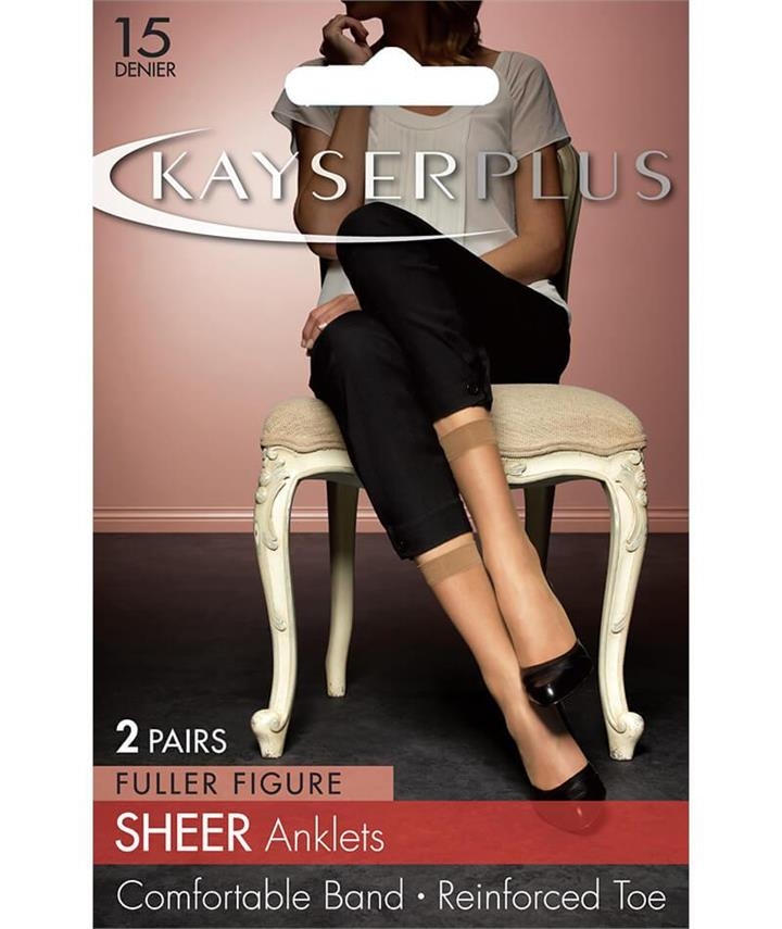 Kayser Plus Sheer Anklets - 2Pack - Nearly Black 1 Size H10213 Hosiery Tights Stockings - Afterpay Available