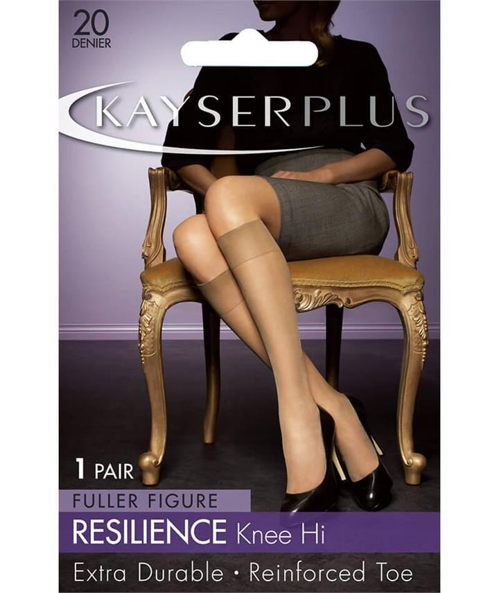 Kayser Plus Resilience Knee Hi's -Jet H10698 Hosiery Tights Stockings - Afterpay Available