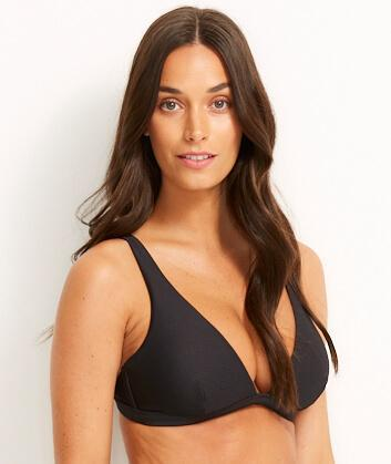 Miléa Mini Rib C-E Cup Triangle Bikini - Nero 14 3311D-RIB Swimwear Swimming Costume Bathers - Afterpay Available