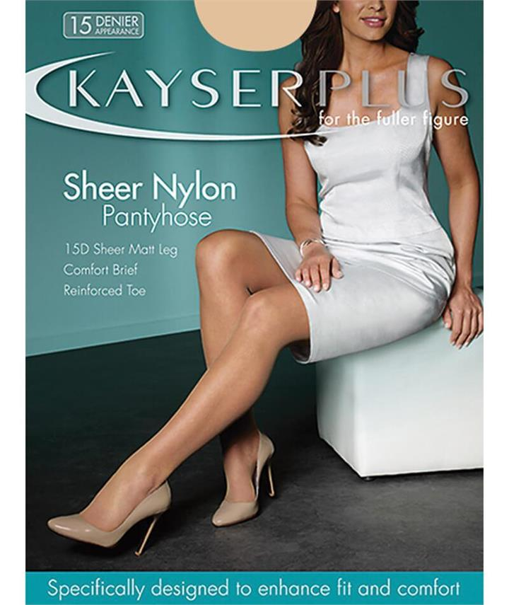 Kayser Plus Sheer Nylon Pantyhose - Nubeige S-LRG H10840 Hosiery Tights Stockings - Afterpay Available