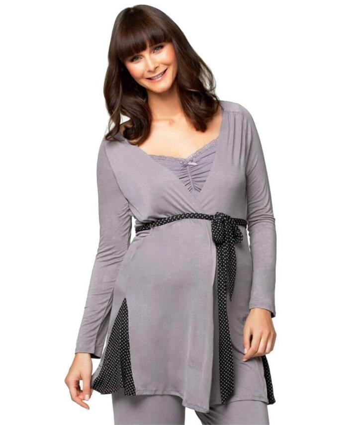Cake Maternity Apple Crumble Robe - Grey M ACR Afterpay Available