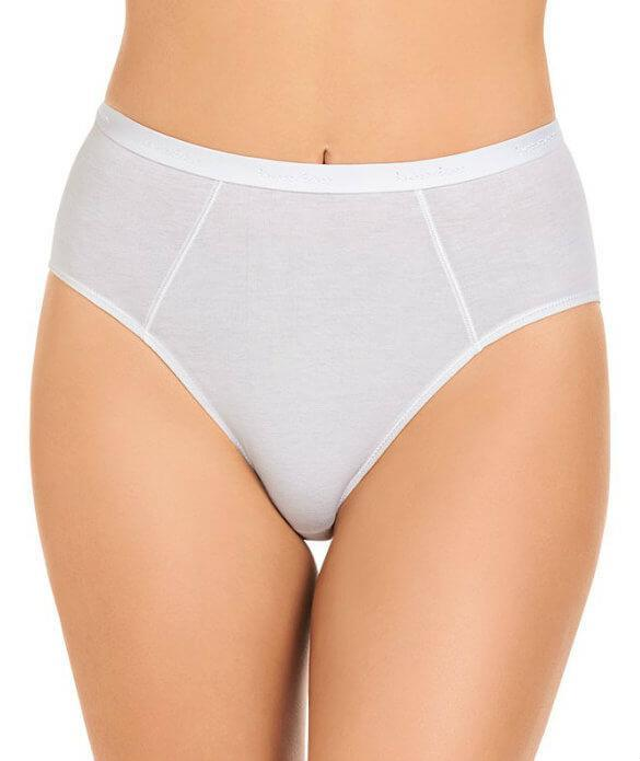Bendon Body Cotton High Cut Brief - White M 14-534 Knickers Underwear Panties - Afterpay Available