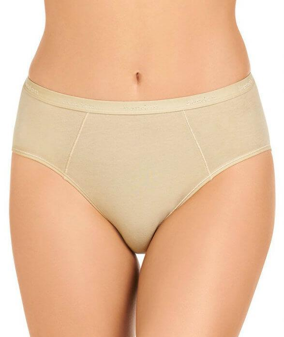 Bendon Body Cotton High Cut Brief - Natural S 14-534 Knickers Underwear Panties - Afterpay Available