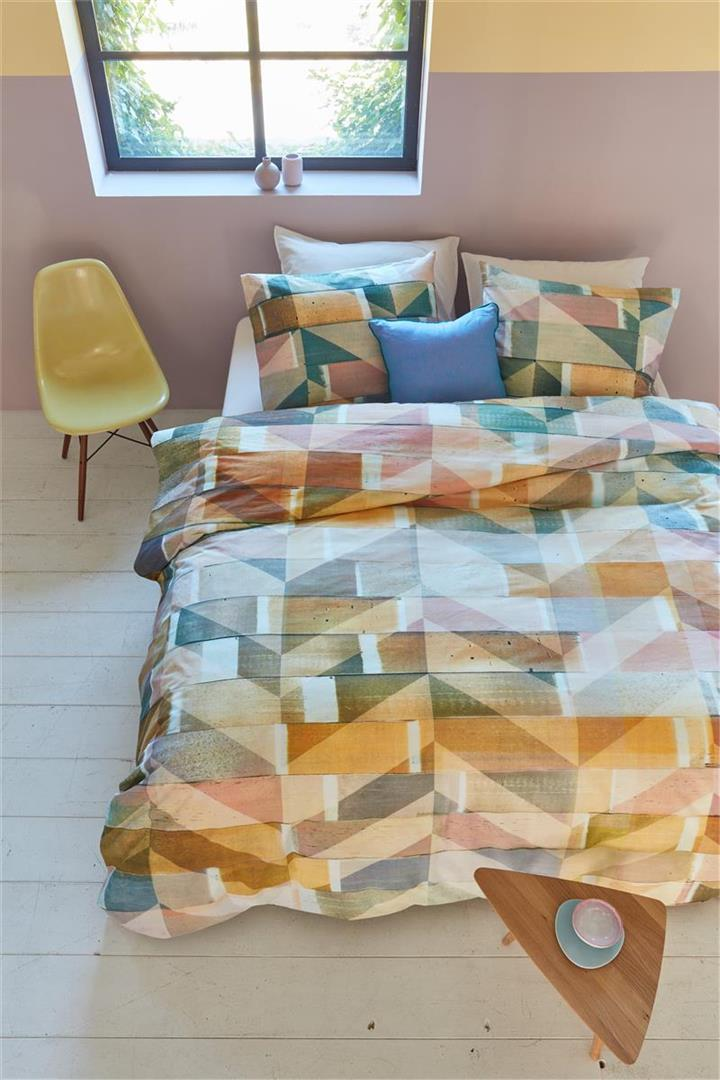 Image of Scrapwood Multi Cotton Quilt Cover Set - King Bed