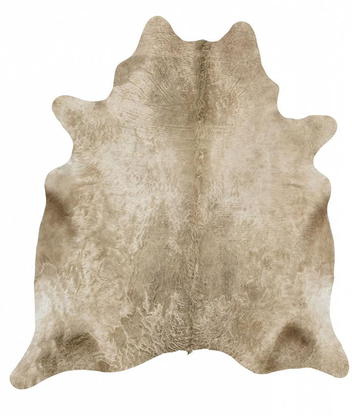 Image of Exquisite Natural Cow Hide Champagne 170x180cm