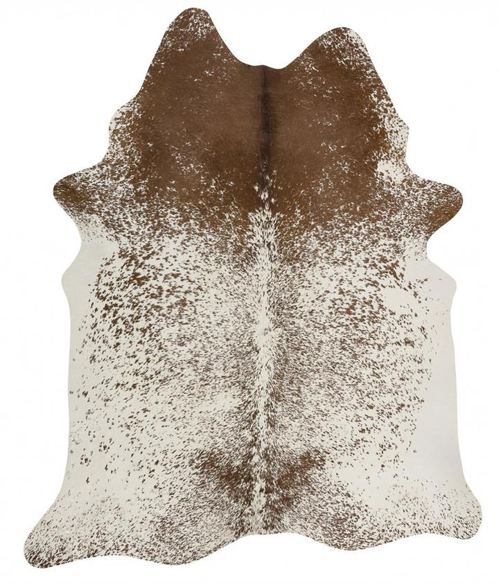 Image of Exquisite Natural Cow Hide Salt and Pepper Brown 170x180cm