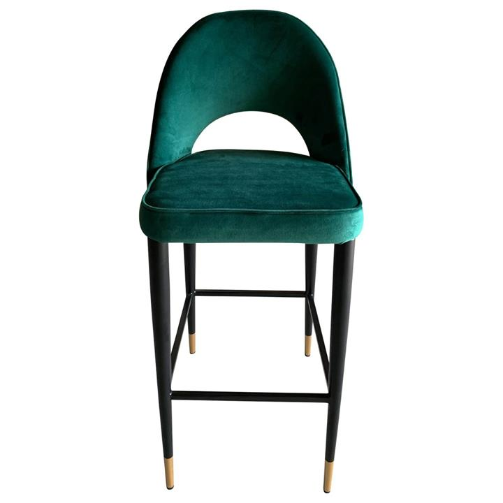 Image of Bourdain Bar Chair Green Velvet