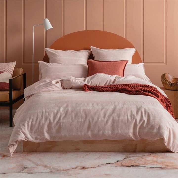 Image of Balmoral Quilt Cover Set 245x210 - Blush King