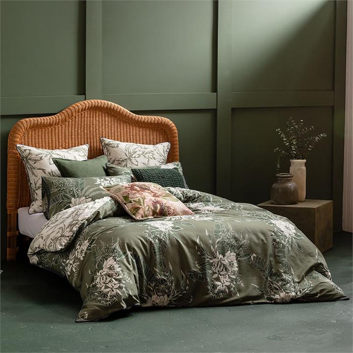 Image of Ivy Quilt Cover Set Green - Double