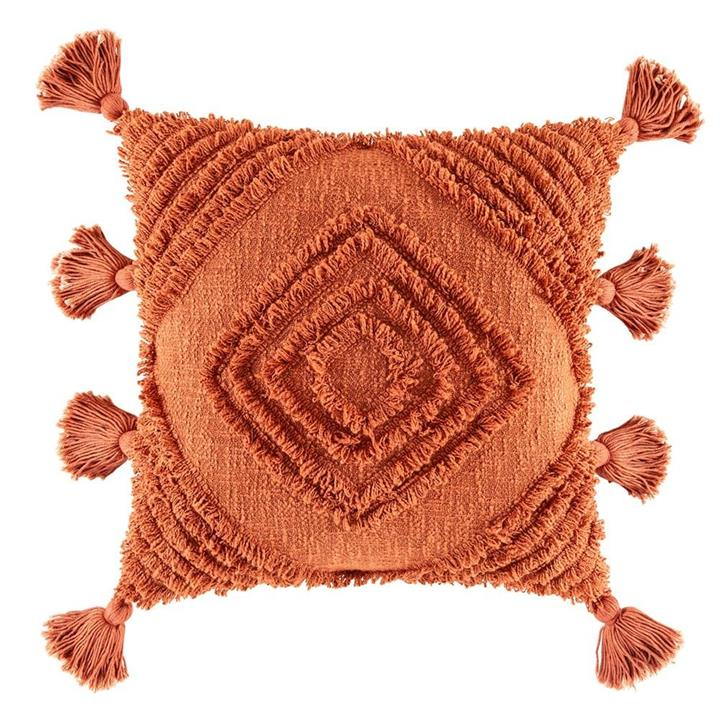 Image of Daffie Cushion - Rust Square