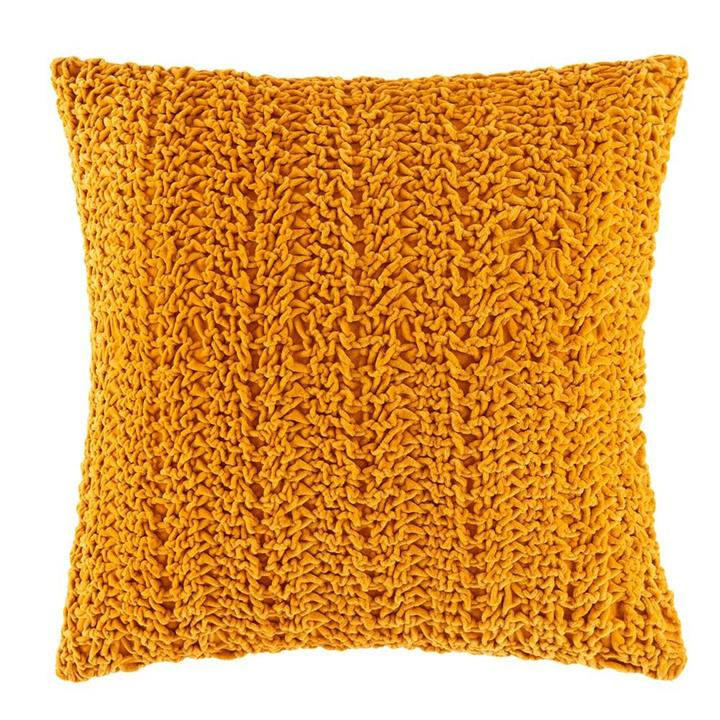 Image of Luna Cushion - Mustard Square