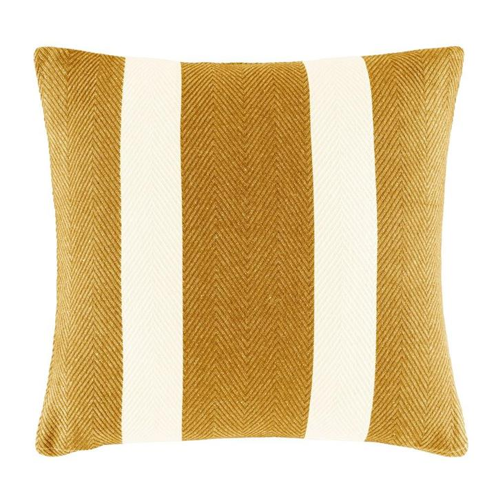 Image of Oldham Stripe Cushion - Mustard Square