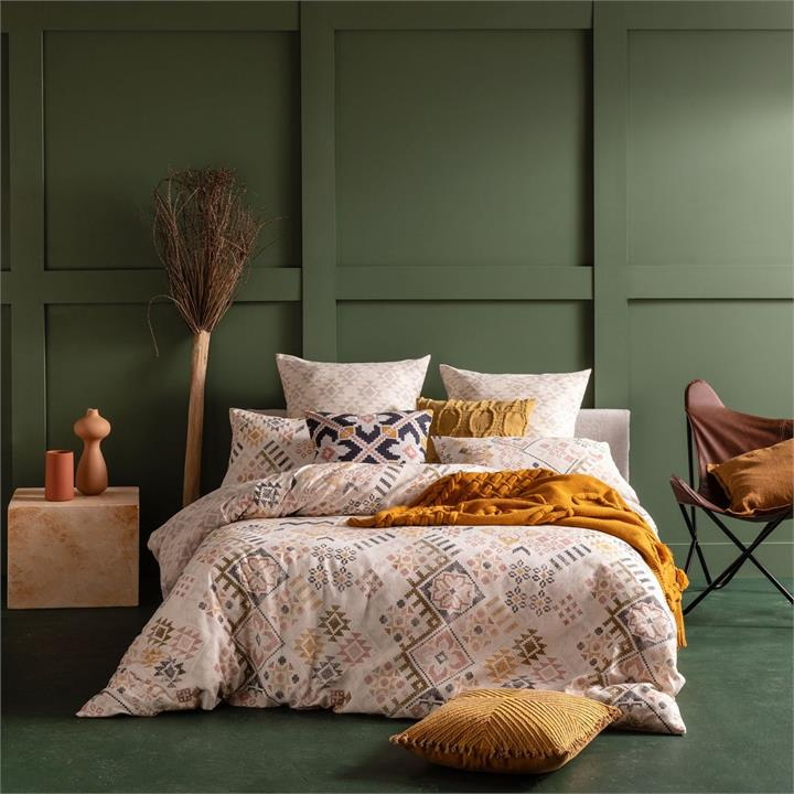 Image of Kana Quilt Cover Set - Neutral King
