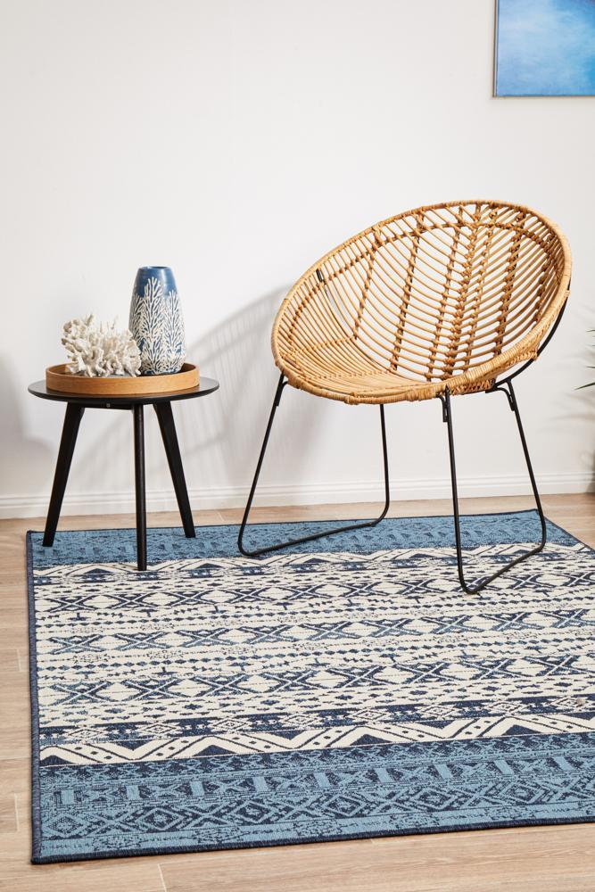 Image of Seaside White Blue Rug 320X230CM