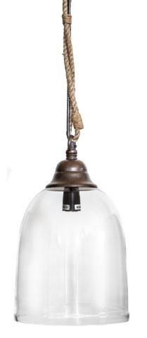Image of Baja Round Glass Pendant Light - Medium