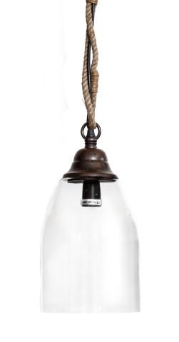 Image of Baja Round Clear Glass Pendant Light - Large