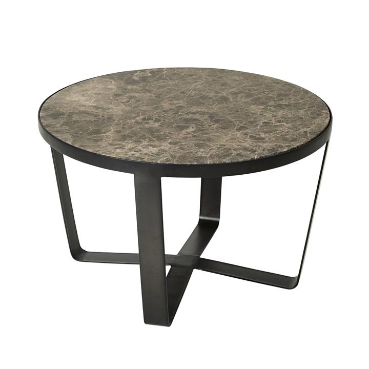 Image of Arne Brown Marble Coffee Table - Large