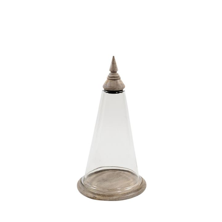 Image of Tapered Lrg Wood/Glass Curio Dome 55X30