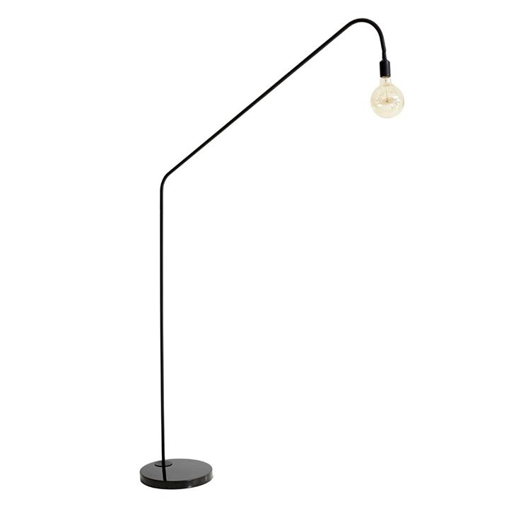 Image of Oriel Floor Lamp with Black Marble Base