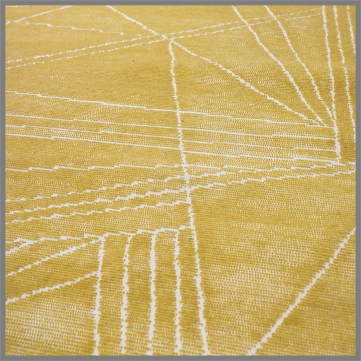 Image of Wool Hand Tufted Yellow Rug 170X240Cm