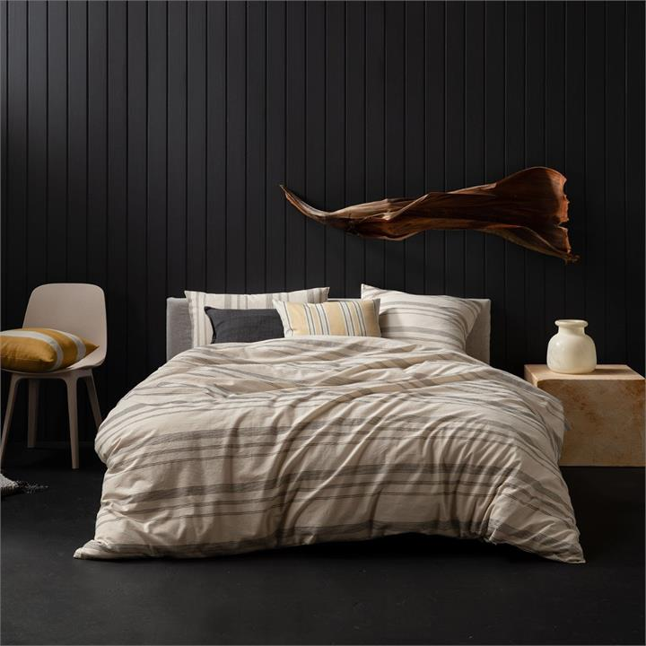 Image of Bexley Quilt Cover Set - Natural Queen