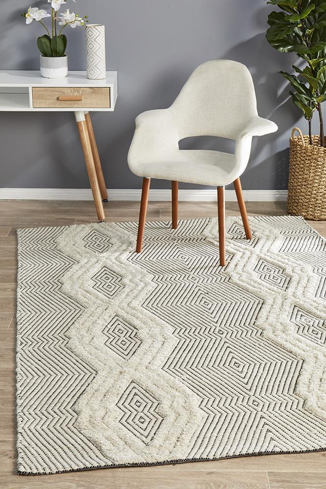 Image of Rhythm Chime Bone Rug 280X190cm