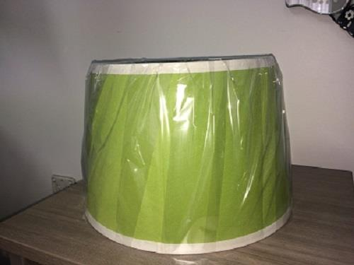 Image of Apple Green Tapered Shade with White Trim