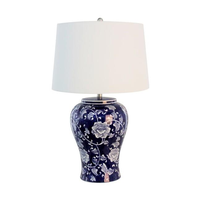 Image of Trellis Table Lamp hand painted with shade