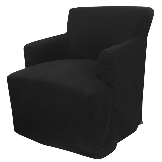 Image of Nantucket Armchair Black with cover