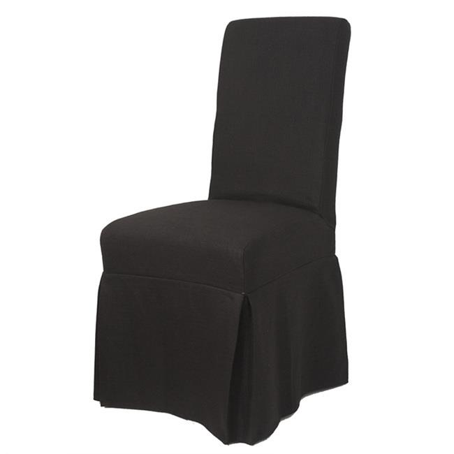 Image of Slip Cover Nantucket for Dining Chair Black