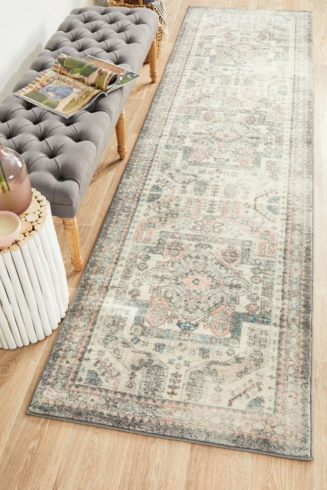 Image of Avenue 704 Silver Runner Rug 300X80CM