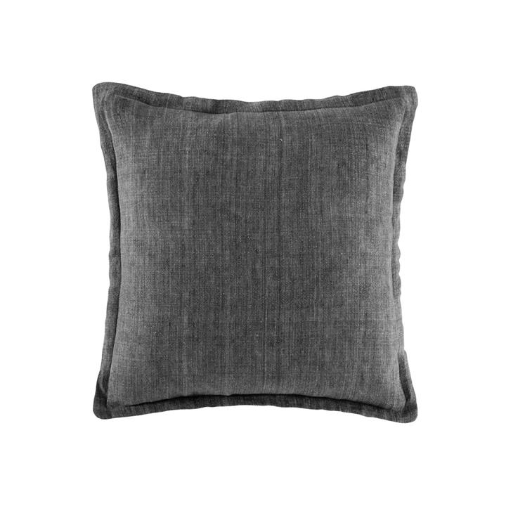 Image of Linen Cushion 50x50 - Grey Square