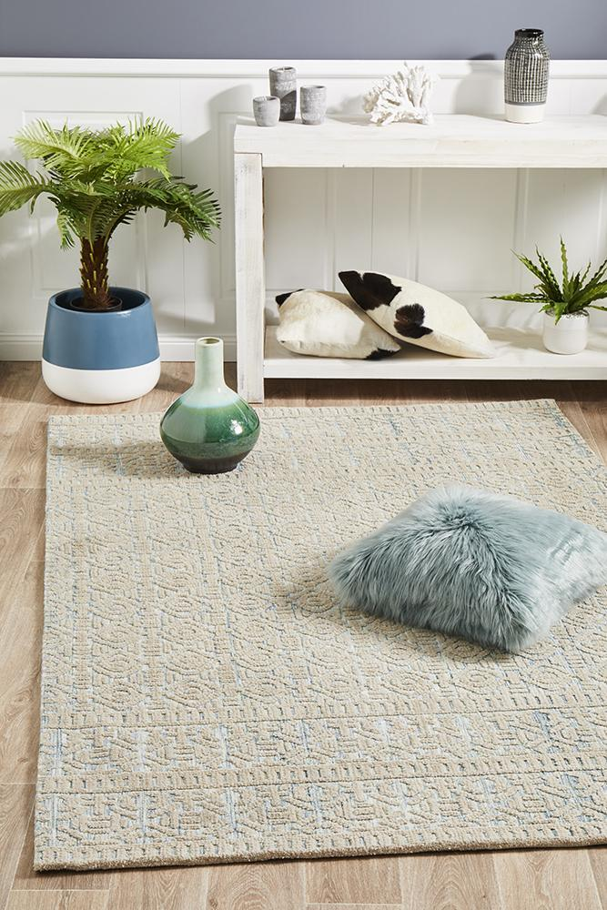 Image of Levi Lucy Blue Green Rug 320X230CM